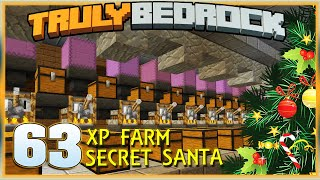 Truly Bedrock S1E63 XP Farm Testing and Secret Santa | Minecraft Bedrock Edition SMP, MCPE, MCBE