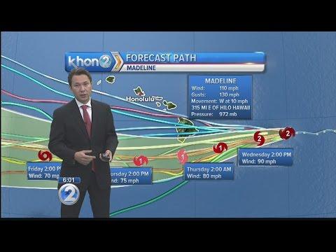 Hurricane Madeline heads toward Hawaii