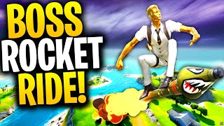 Can A HENCHMEN BOSS ROCKET RIDE In Fortnite? | Midas Rocket Ride!? | Fortnite Mythbusters