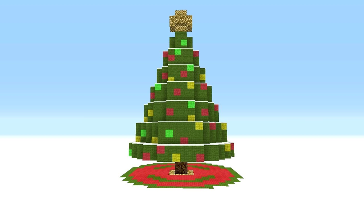 Minecraft Tutorial How To Make A Giant Christmas Tree