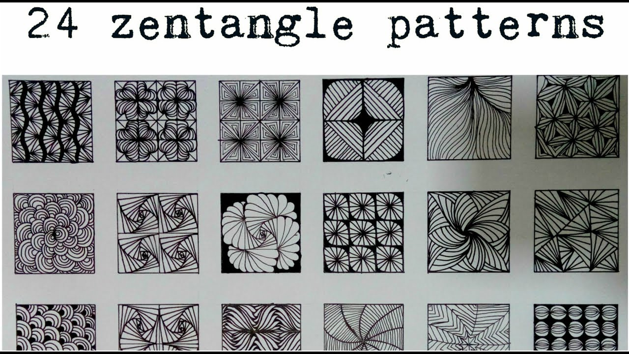 Zentangle Patterns Best Design
