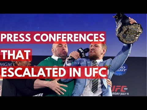 UFC Press Conferences That Escalated Quickly - TOP 5