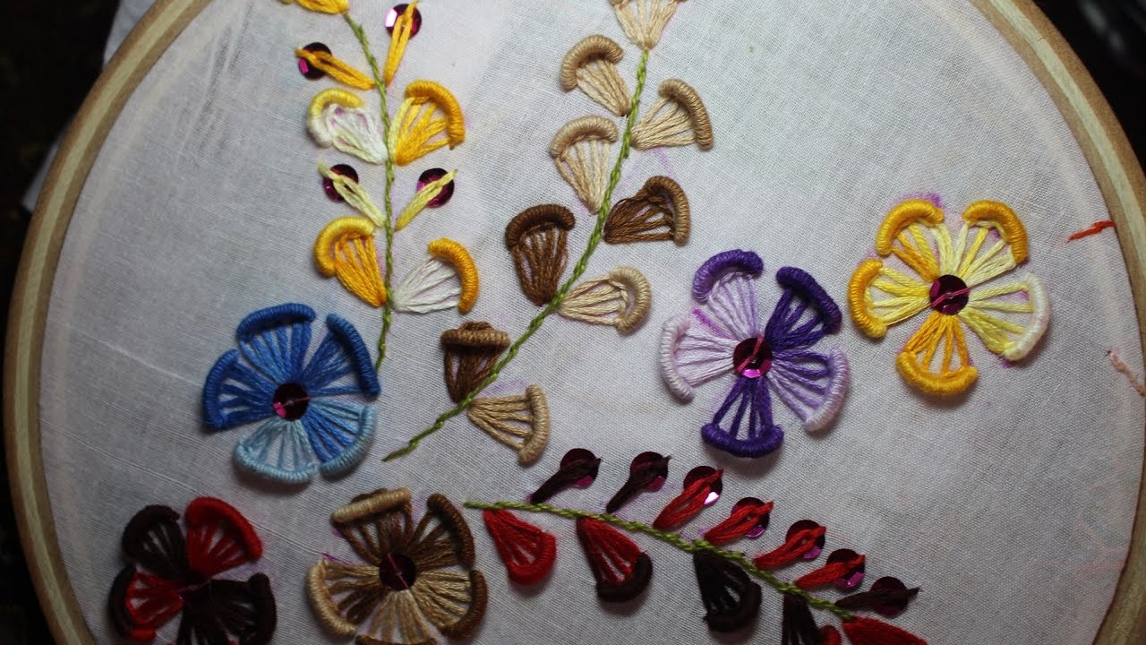 Hand embroidery designs design for dresses