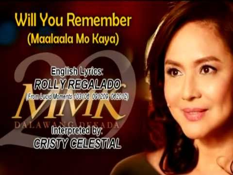 Will you remember (Maalaala Mo Kaya)
