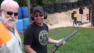 10 Gauge Double Barrel Shotgun Shooting
