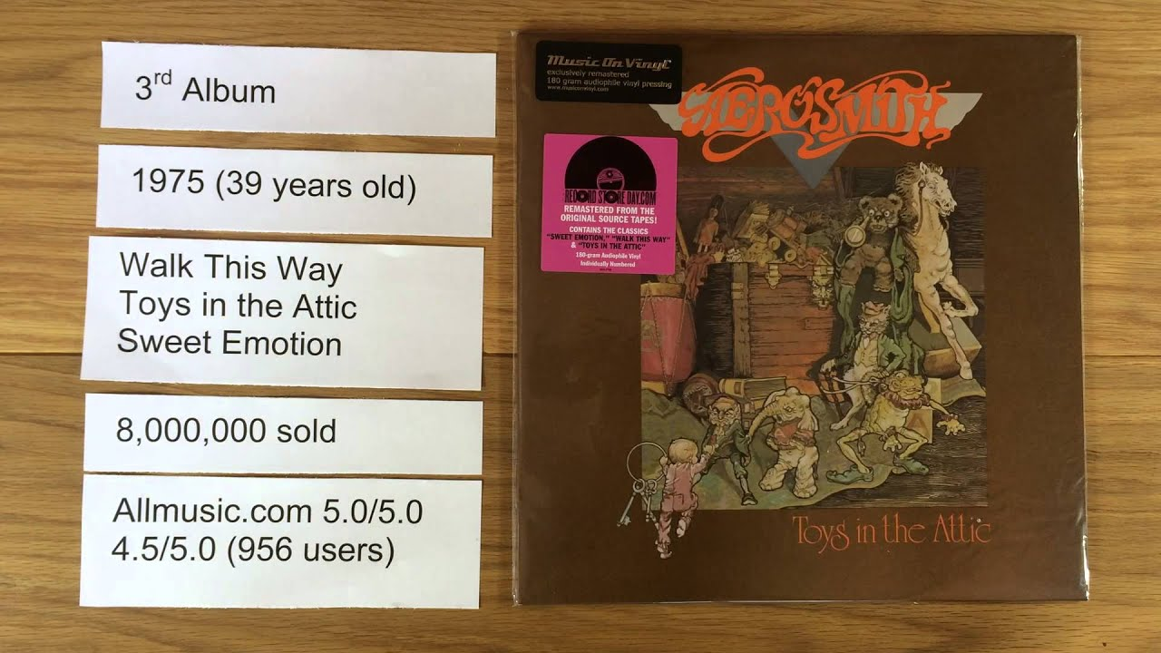 Aerosmith Toys In The Attic 5 Vinyl Facts Youtube