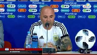 """Sampaoli: """"Me voy preocupado porque no conseguimos los tres puntos"""""""