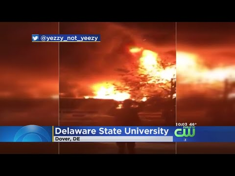 Firefighters Battle Massive Barn Fire At Delaware State University