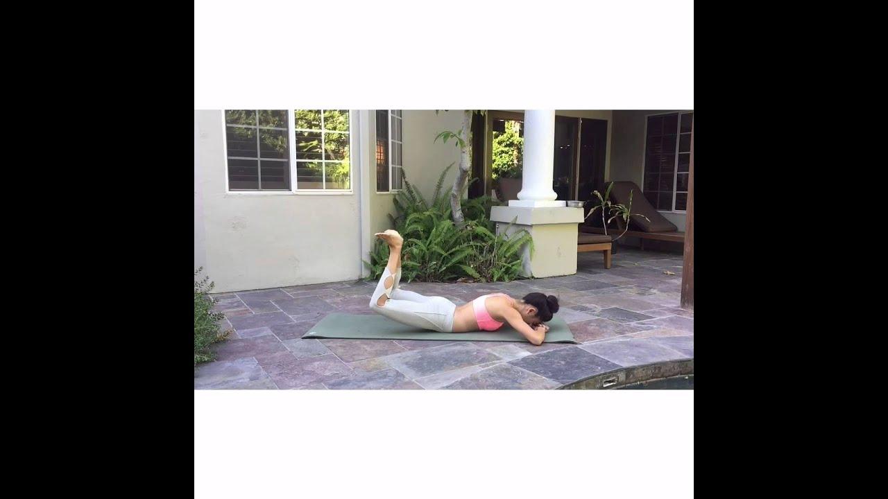 Pilates Mat Hamstring Presses