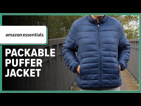 Amazon Essentials Lightweight Water-Resistant Packable Puffer Jacket Quick Look Review