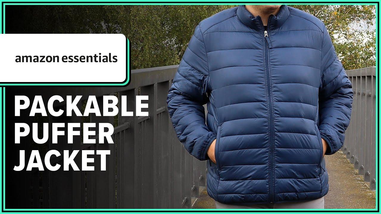 Essentials Lightweight Water-Resistant Packable Puffer Jacket Coat