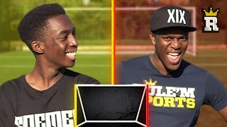 KSI ON THAT CROSSBAR TING - WOODWORK CHALLENGE vs FIFAManny | Rule