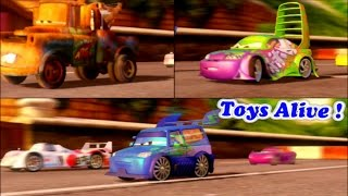 Cars 2 Game Play - 3 Players Battle Race