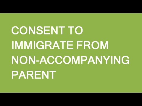 Consent To Immigrate To Canada For Children. LP Group