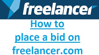 How to bid on freelancer.com 2016 (step by step)