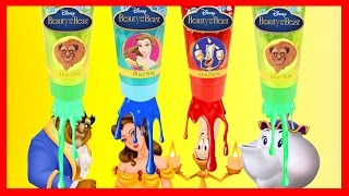 Disney Beauty and the Beast Bath Paint with Dreamworks Trolls Movie, PJ Masks, Paw Patrol