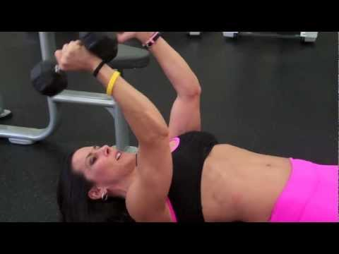 One Minute Exercises - Lying Triceps Extensions