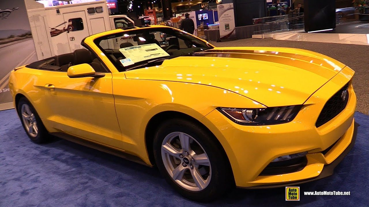 2017 Ford Mustang Convertible Exterior And Interior Walkaround 2017 Chicago Auto Show Youtube