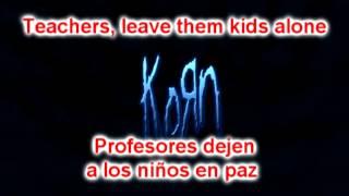 KoRn - Another brick in the wall lyrics Sustitulado Ingles - Español