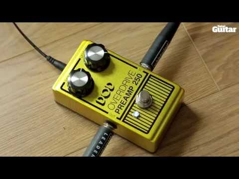 DOD Overdrive Preamp 250 guitar effects pedal demo