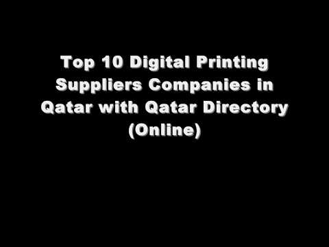 Top 10 Digital Printing Supplies Companies in Doha, Qatar