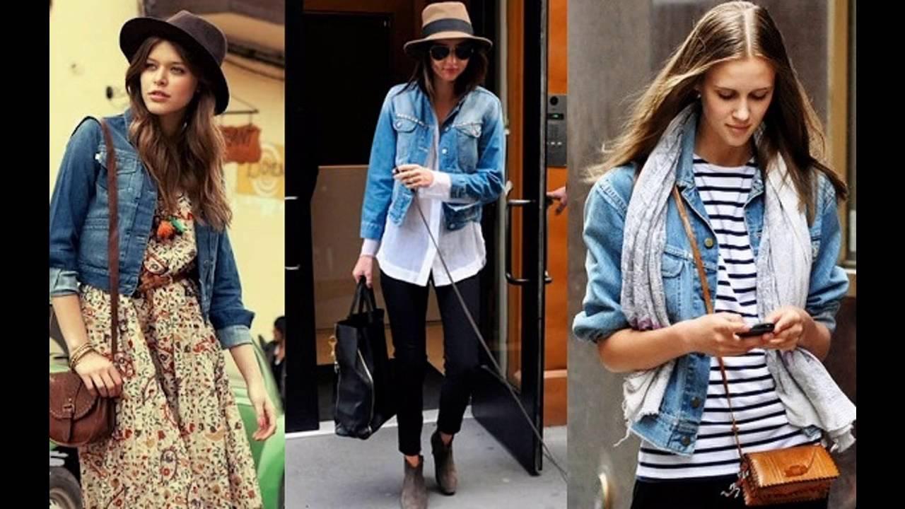 prendas de vestir chaquetas de mezclilla mujer outfit
