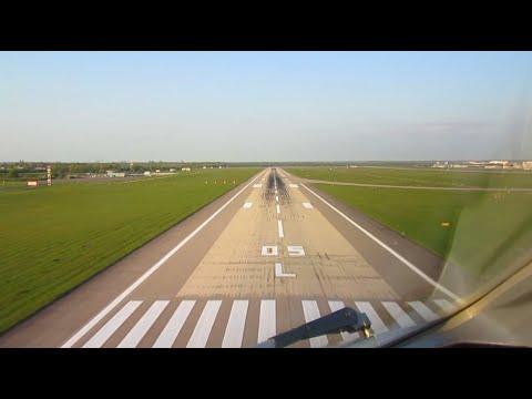 Bombardier Dash 8 Q400 | AirBerlin | Cockpit Landing at Düsseldorf Airport | 60 FPS
