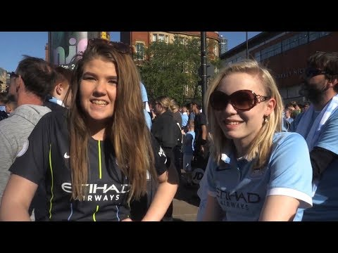 Man City Fans Turn Out In Huge Numbers For Trophy Parade