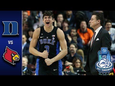 Duke vs Louisville 2017 ACC Basketball Tournament Highlights