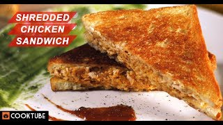 Shredded Chicken Sandwich Is Easy and Delicious | Grilled Chicken Sandwich Recipe