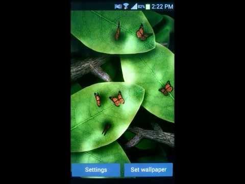Tap Leaves Live Wallpaper v2.0