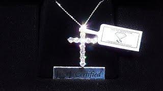 "1.00ct of Diamonds ""Perfect sized Diamond Cross"" Unboxing"