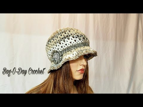 How To Crochet -  HAT | The Irish Rose Cloche Flapper Style | BAGODAY CROCHET Tutorial #471