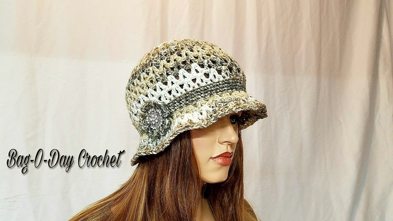 3755cd813bb46f How To Crochet - HAT | The Irish Rose Cloche Flapper Style | BAGODAY  CROCHET Tutorial #471