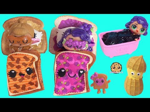 LOL Surprise Morning Routine with Custom DIY Peanut Butter & Jelly Dolls
