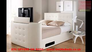 2013 Sale  White Leather Beds By Getmebeds.co.uk