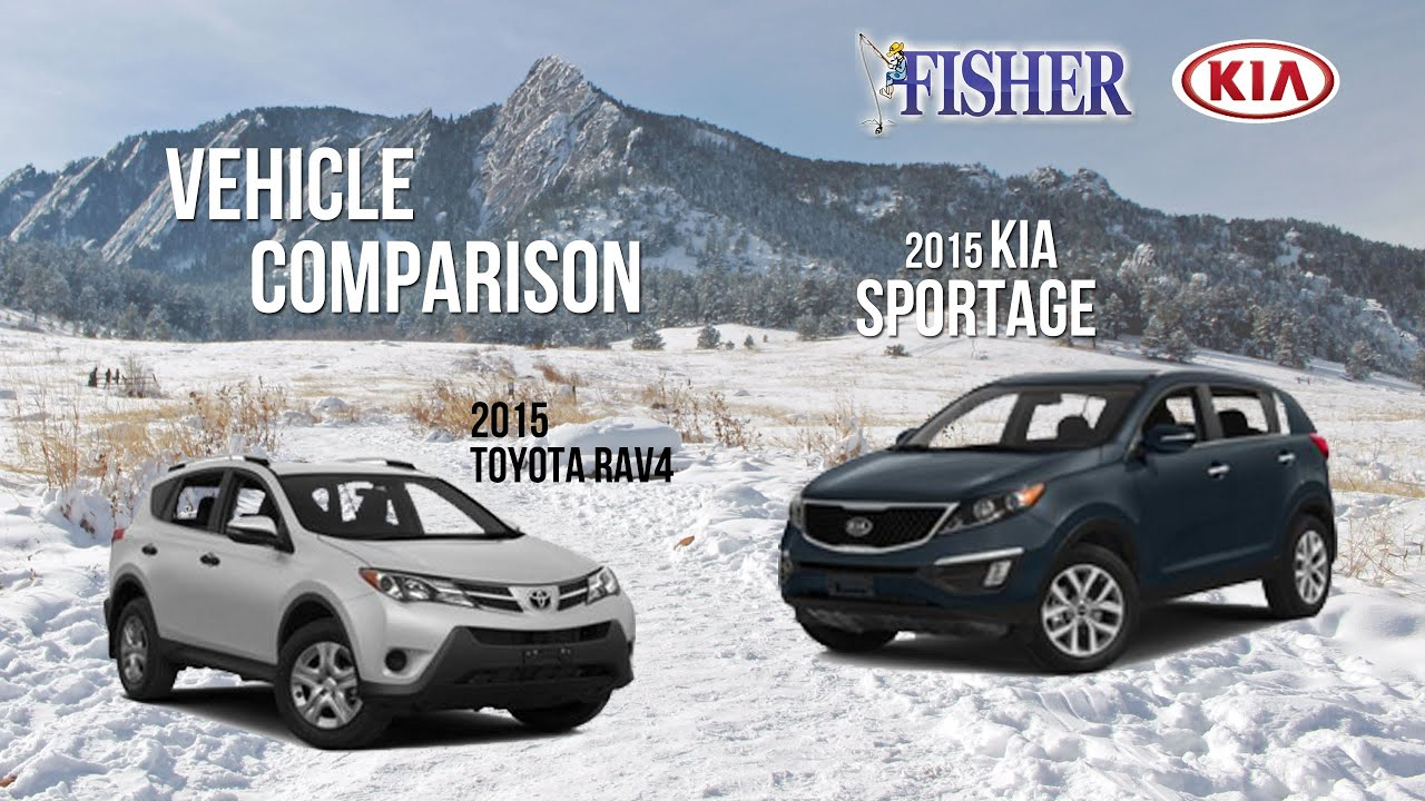 kia comparison 2015 kia sportage vs 2015 toyota rav4 youtube. Black Bedroom Furniture Sets. Home Design Ideas