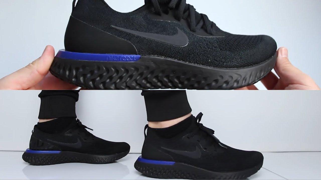 de2232dcbb77 Nike Epic React Flyknit   Triple Black