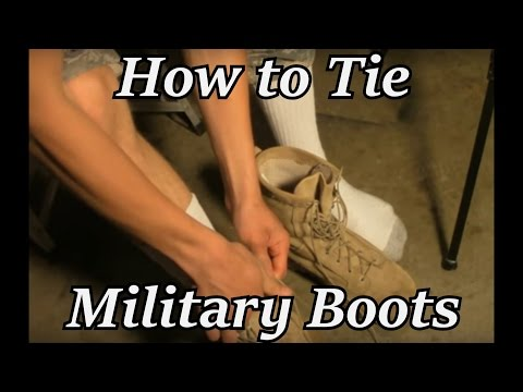 How to Tie Military Boots