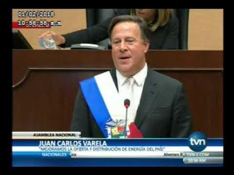 TVN, Discurso del Presidente de la República, Juan Carlos Varela