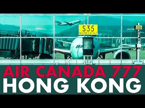 Piloting The AIR CANADA 777 Out Of HONG KONG