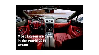 """Top 10 most expensive cars in the """"WORLD""""!! 2019-2020"""