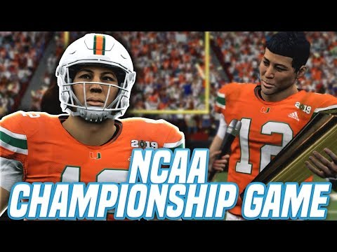 NCAA CHAMPIONSHIP GAME VS USC! Madden 20 Face Of The Franchise