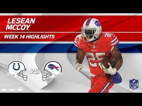 LeSean McCoy Dashes Through the Snow w/ 158 Yards & 1 TD   Colts vs. Bills   Wk 14 Player HLs