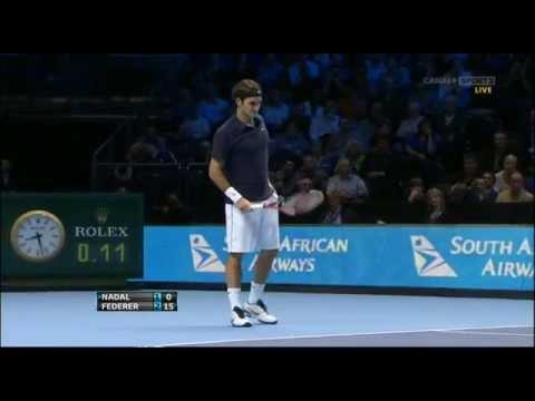 WTC 2011 Nadal vs Federer (London RR2)