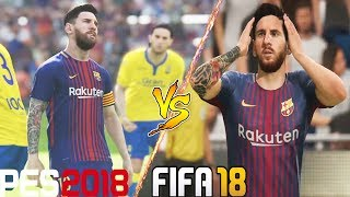 Fifa 18 vs pes 2018 | miss and reaction comparison