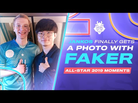 Jankos Finally Gets A Photo With Faker | All-Star 2019 Moments
