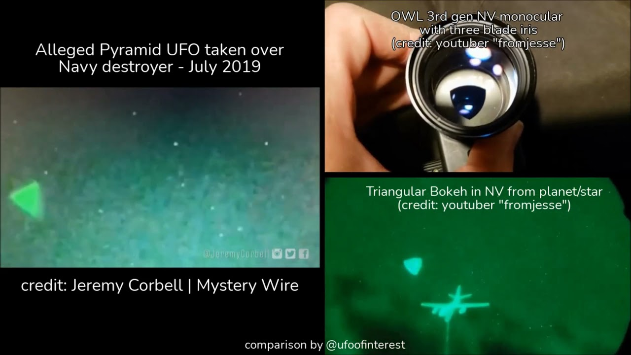 Pyramid Shaped UFO Over USS Russell? A Possible Explanation