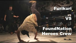 More FoundNation crew action as their footwork bboy Koshio Rawman j...