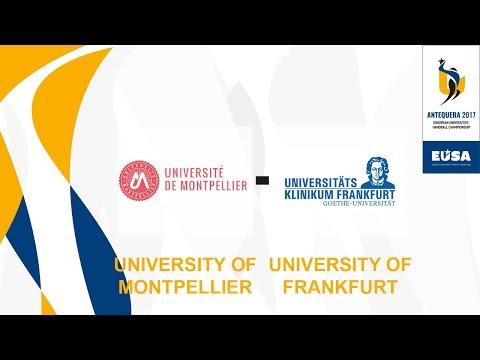 University of Montpellier vs University of Frankfurt, 4th & 3rd Finals Male - EUC Handball 2017